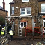 House extension being built