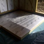Floor being insulated
